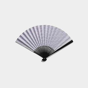 [Hand Fan] Tachibana Otoko Color Kira Silver Boiled Black | Edo Folding Fans