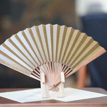 Load image into Gallery viewer, [Hand Fan] Man'S Arabesque Soot And Bamboo | Edo Folding Fans