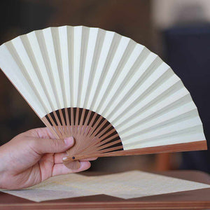 [Hand Fan] Men's Woodblock Book Soot Bamboo | Edo Folding Fans