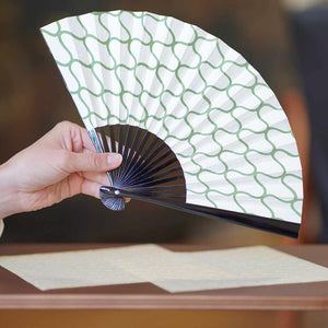 [Hand Fan] Momochi Sansha Net Black Paint | Edo Folding Fans