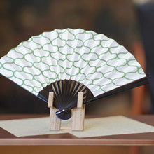 Load image into Gallery viewer, [Hand Fan] Momochi Sansha Net Black Paint | Edo Folding Fans