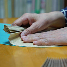 Load image into Gallery viewer, [Hand Fan] Men's Woodblock Book Soot Bamboo | Edo Folding Fans