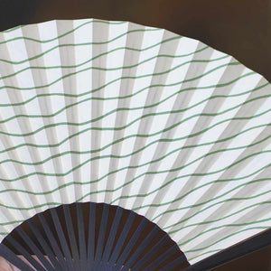 [Hand Fan] Manmochi Tachiyu Boiled Black | Edo Folding Fans