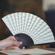 Load image into Gallery viewer, [Hand Fan] Manmochi Tachiyu Boiled Black | Edo Folding Fans