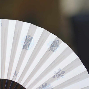 [Hand Fan] Yukiwa Momochi Black Paint | Edo Folding Fans