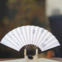 Load image into Gallery viewer, [Hand Fan] Yukiwa Momochi Black Paint | Edo Folding Fans