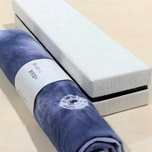 [Towels] Black Towel Log Squeeze Dyeing (With Cosmetic Box) | Kyoto Kanoko Shibori