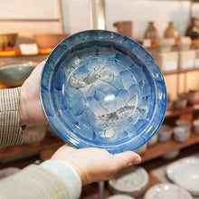 Load image into Gallery viewer, [Large Plate (Platter)] Dyed Fish Crest Plate Shrimp | Karatsu Wares