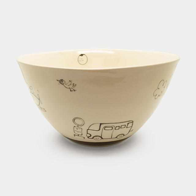 [Small Dish (Plate)] Rina-Chan Series Bowl B | Pottery and Porcelain