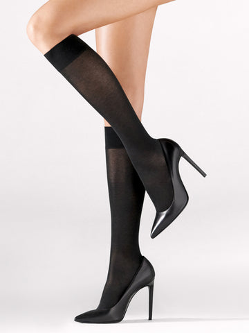 Wolford Cotton Knee-Highs - Je Te Veux