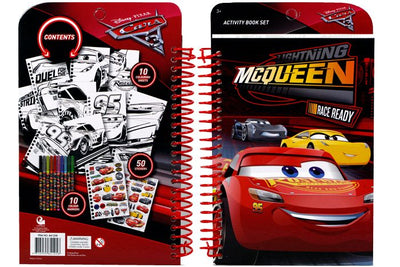 'Cars' Stationery Activity Book Set