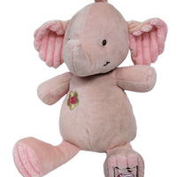 Pink Elephant Teddy with Rattle inside
