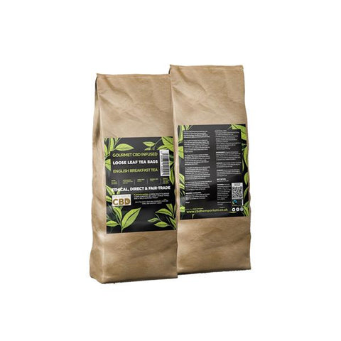 Equilibrium CBD Gourmet Loose 200 Tea Bags Bulk 680mg CBD - English Breakfast Tea