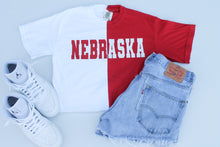 Load image into Gallery viewer, Nebraska Half and Half Tee