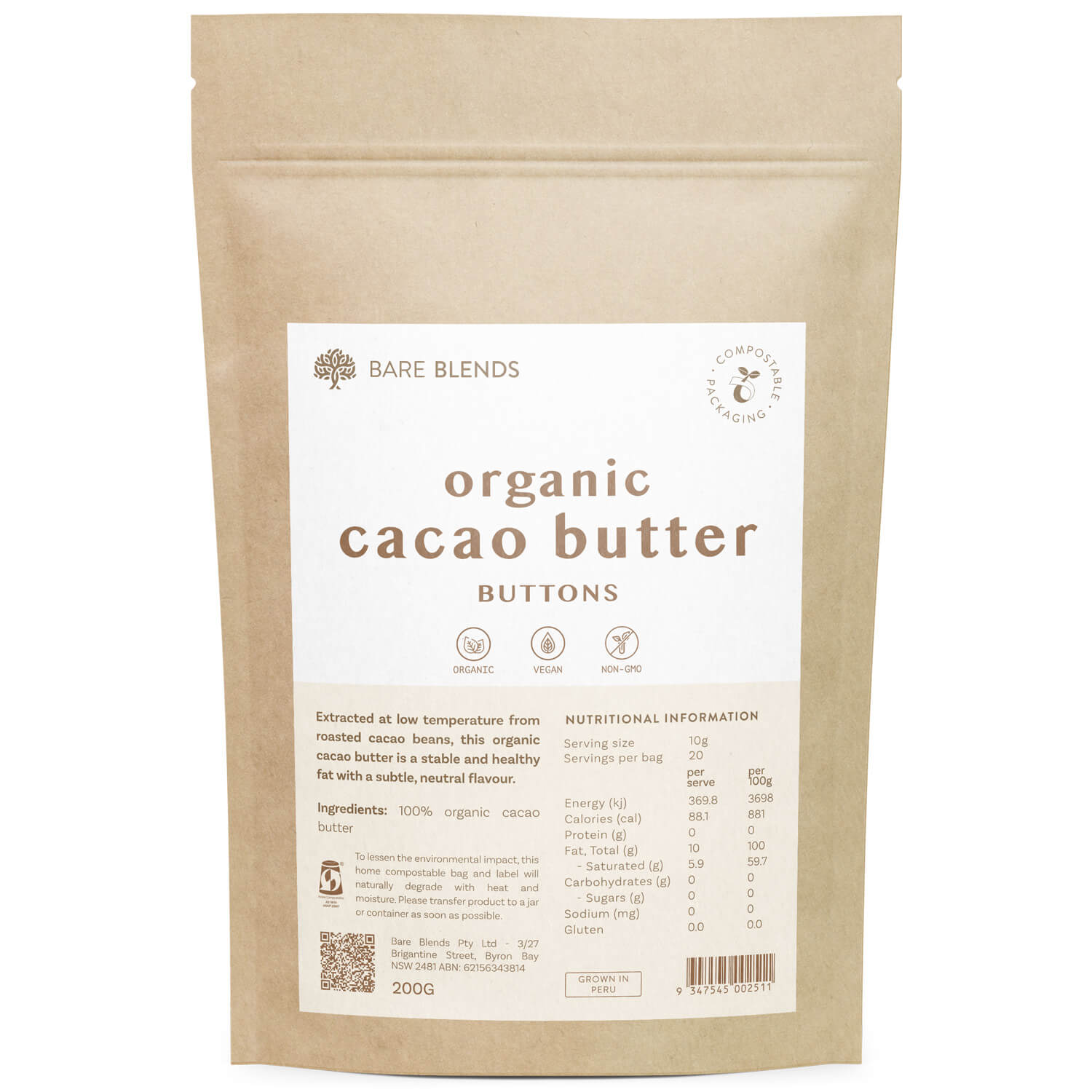 Organic Cacao Butter  - 200g