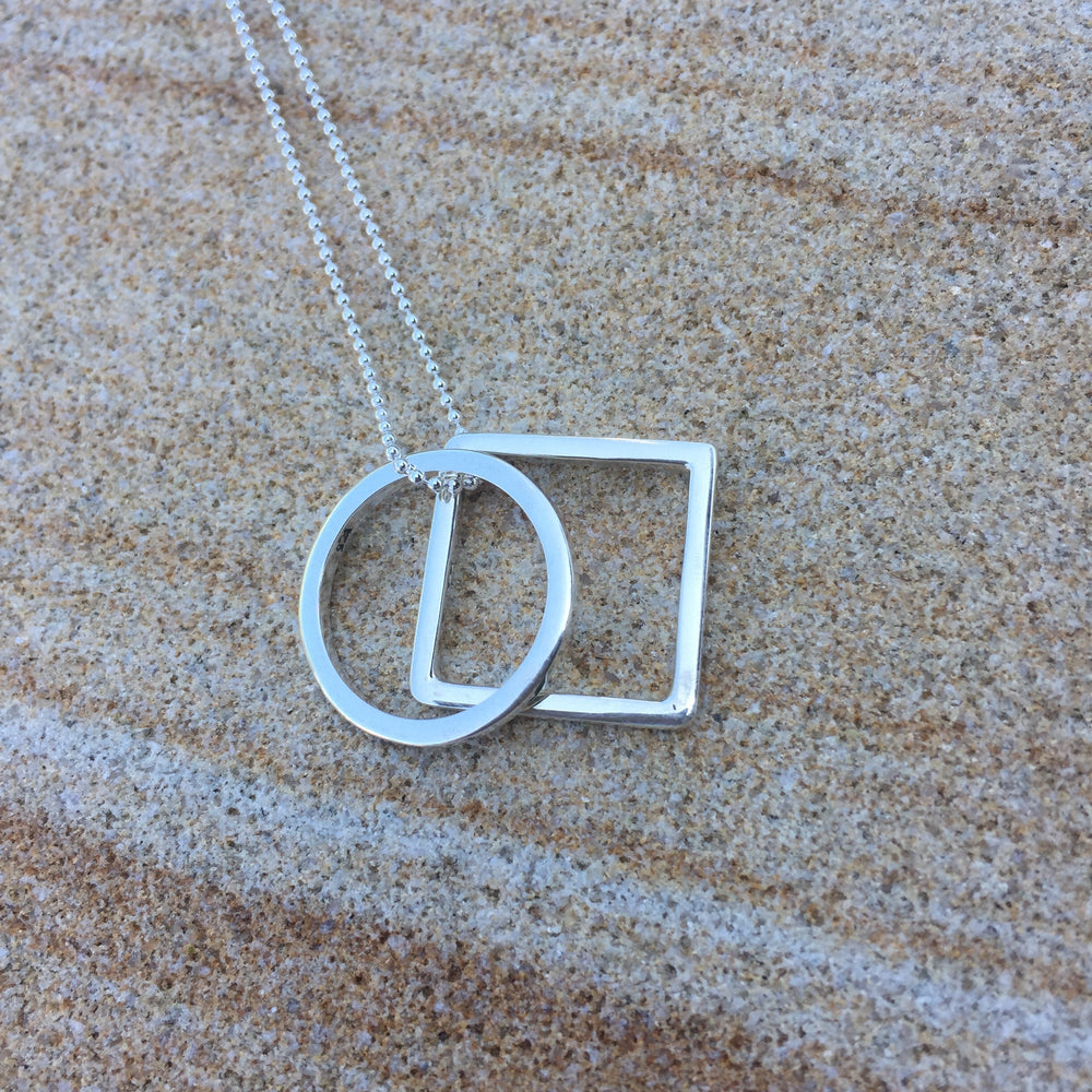Square and Circle Necklace