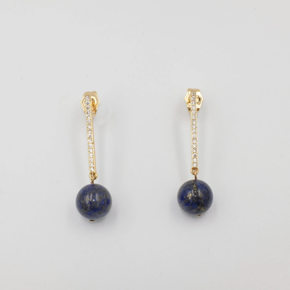 Amphritite Lapis Lazuli Drop Earrings