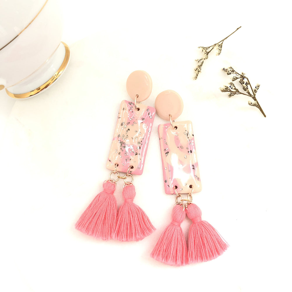 Melissa Rose Gold Tassel Earrings