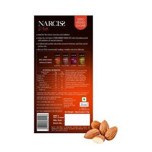 Narciss Sugar Free 55% Dark Chocolate - All-in-One Pack of 4 (90g X 4)