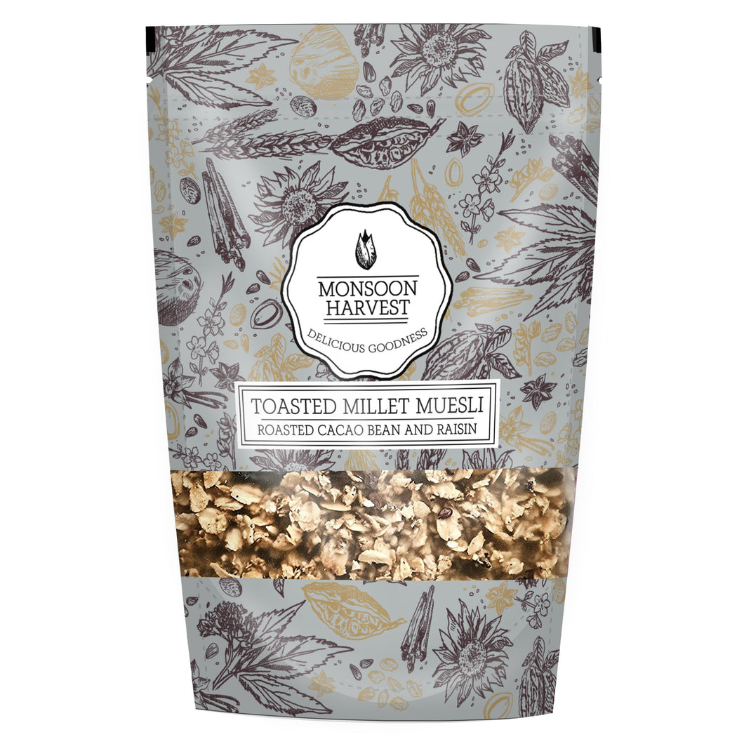 Toasted Millet Muesli - Roasted Cacao Bean & Raisin
