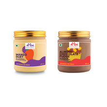 Load image into Gallery viewer, Emoi Mango Duet & Almond Chocolate Fudge (450ml each)