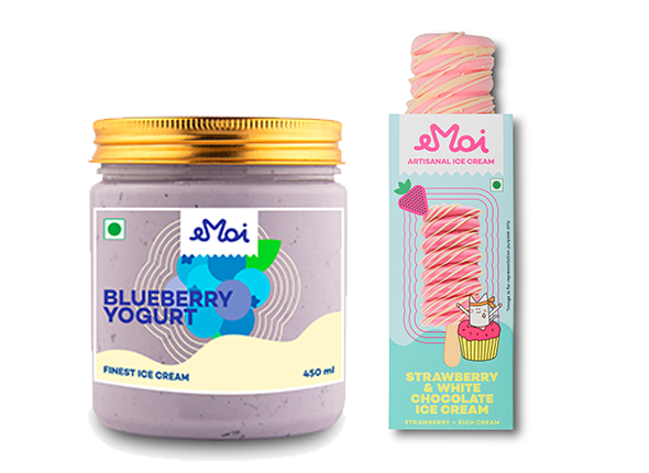 Emoi Fruit Party (Blueberry Yogurt Jar & Strawberry and White Chocolate Stick)