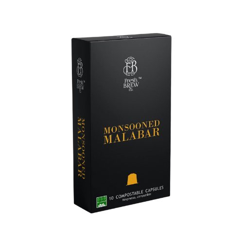 Fresh Brew Co. Monsooned Malabar - Intensity 7 | Compostable Capsules