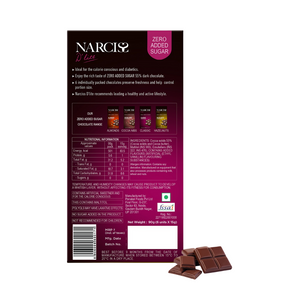 Narciss Sugar Free 55% Dark Chocolate - Pack of 2, Hazelnuts and Classic (90g x2)