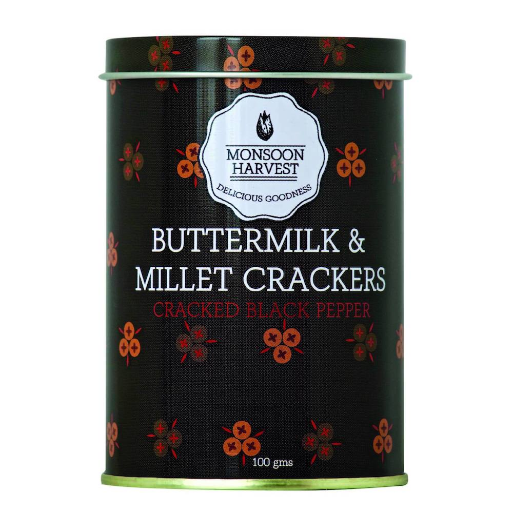 Buttermilk & Millet Crackers - Cracked Black Pepper 100g