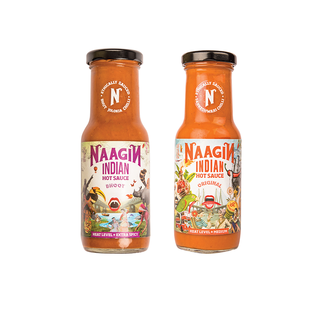 Naagin Indian Hot Sauce Bundle - Bhoot & Original (230g each)
