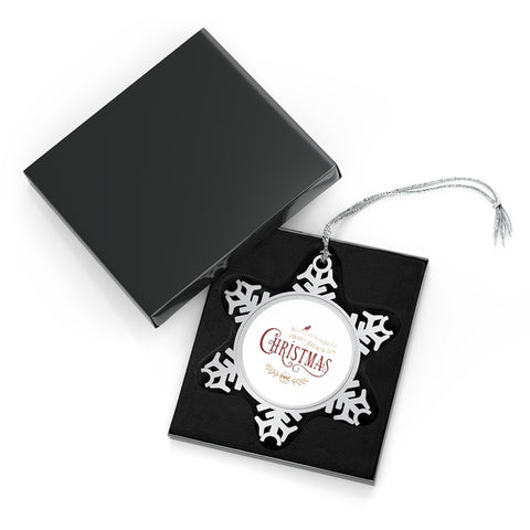 WBICR - Pewter Snowflake Ornament