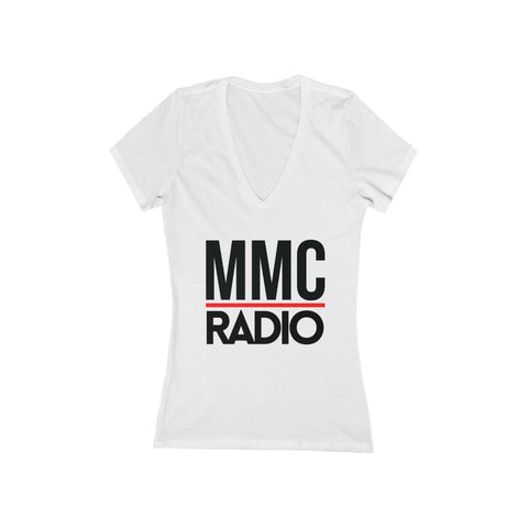 MMC Radio | Women's Jersey Short Sleeve Deep V-Neck Tee
