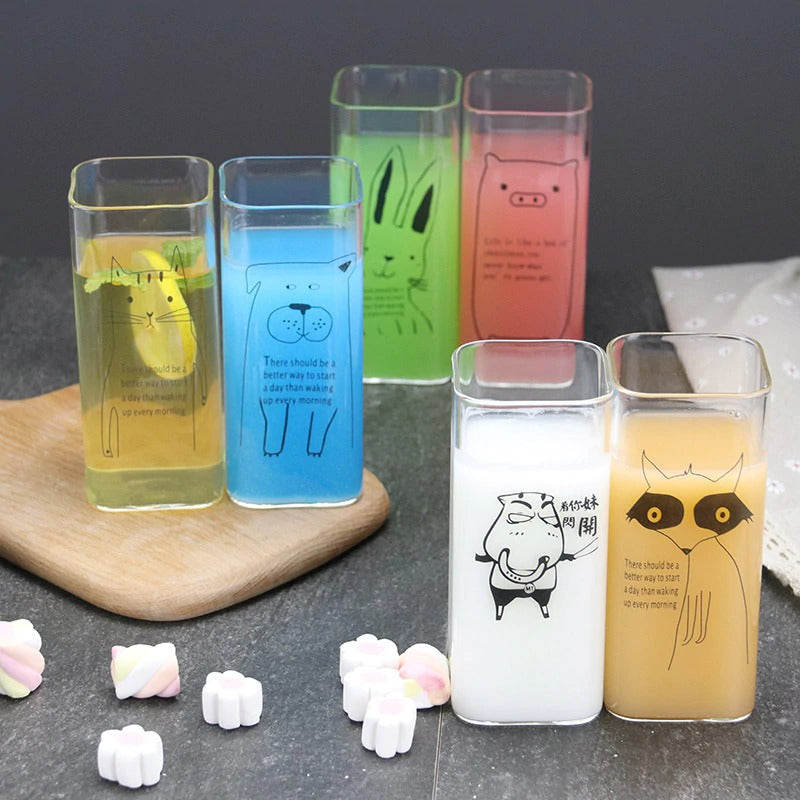 Animal Square Glass