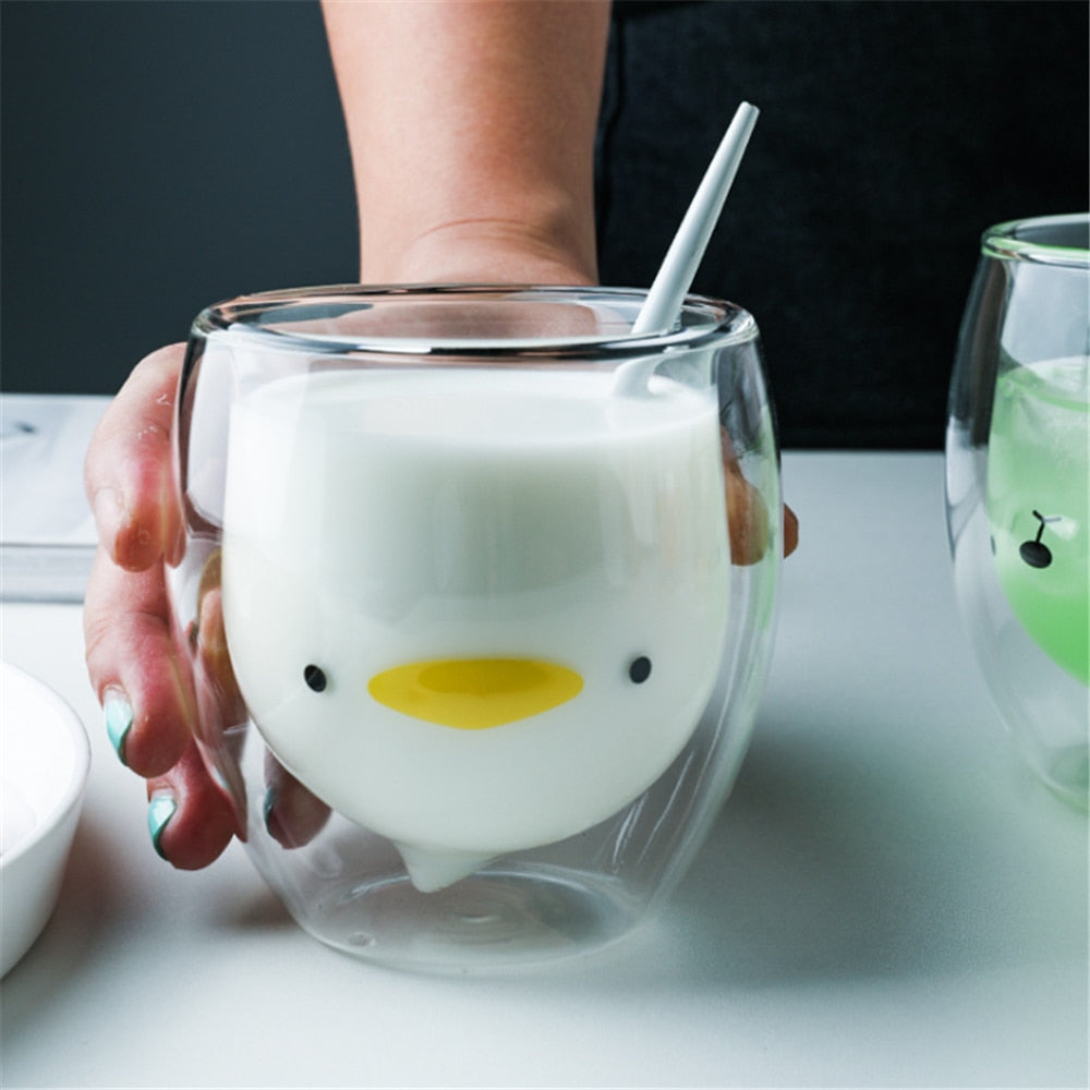 Quackers the Duck Glass Cup