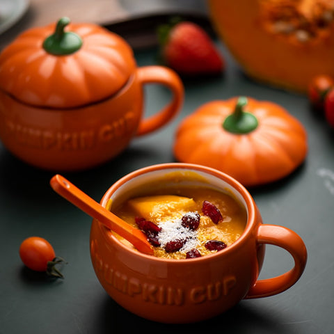 Pumpkin Spiced Ceramic Breakfast Cups