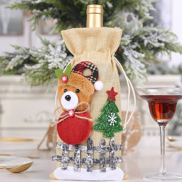 Cute Christmas Wine Bottle Covers