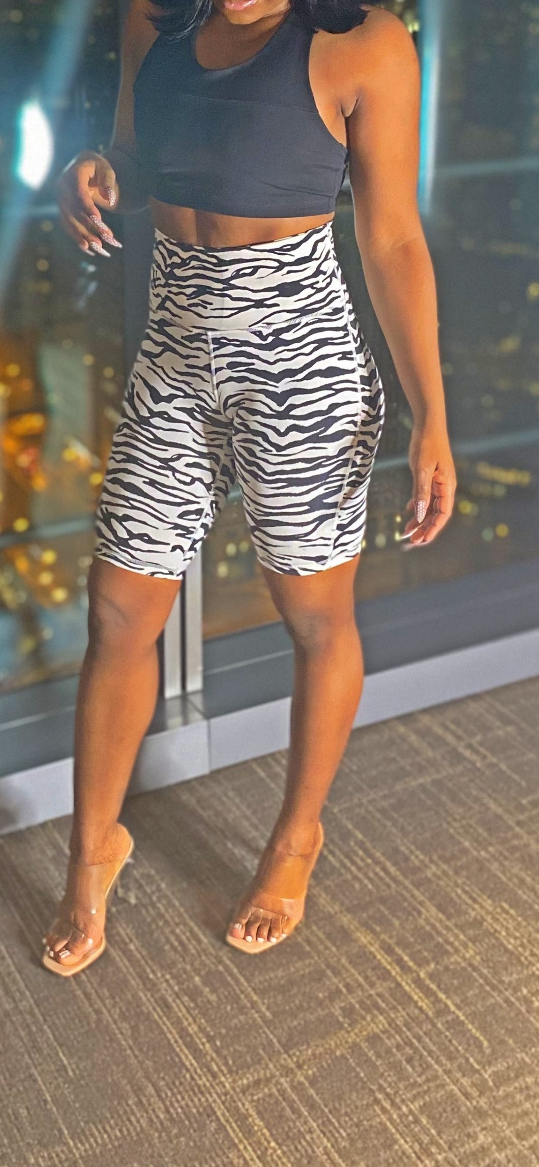 Kenya High Waist Bermuda Shorts