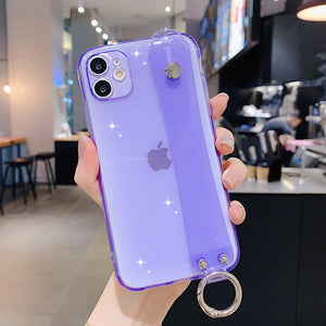 "CAPINHA PARA IPHONE ""COLOR GLOW"" COM SUPORTE PARA CINTO - DO IPHONE 7 AO 12"