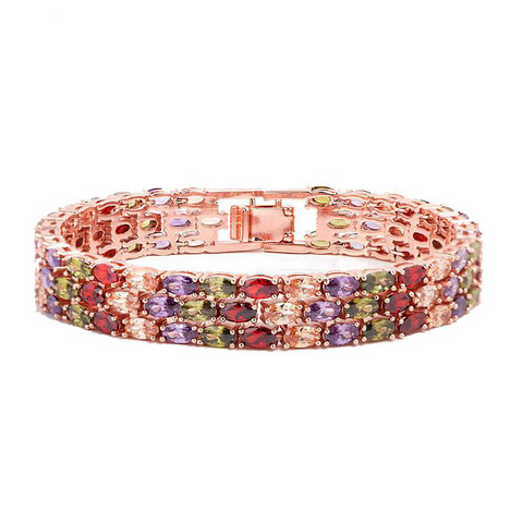 Pulsera Circonitas Colores Rectangular