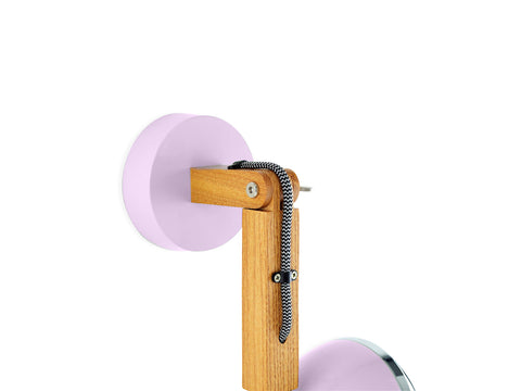 Mr. Wattson Wall Lamp, G9 LED Ash - Camellia Pink
