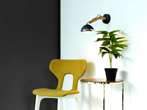 Mr. Wattson Wall Lamp, G9 LED Ash - Fashion Black