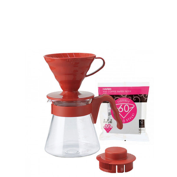Hario Pour Over Kit V60 Red - mabets.sk