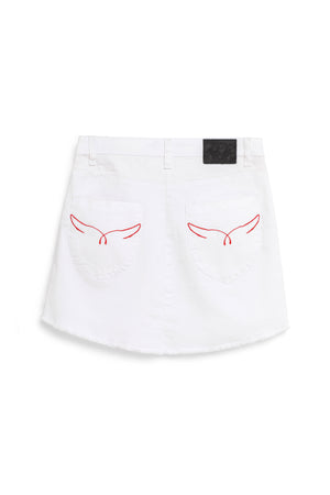 Falda denim WACO blanco