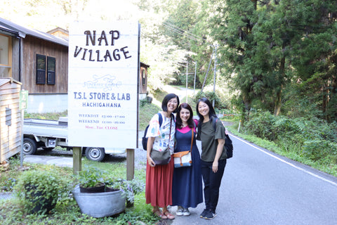 Ayako (left), Esther and Mits (right)