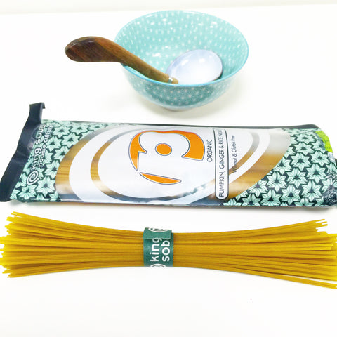 King Soba Organic Pumpkin & Ginger rice noodles
