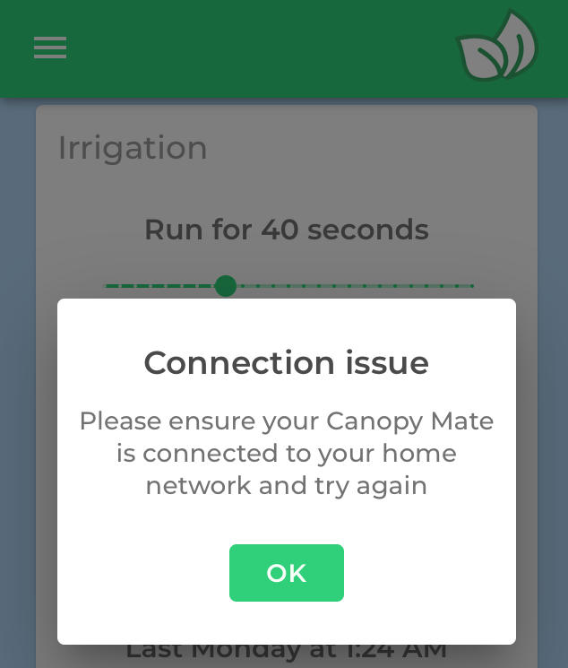 Connection Issue
