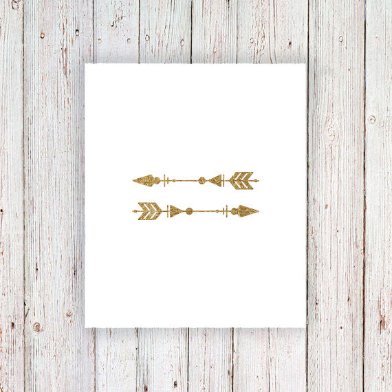 Gold arrow temporary tattoos (set of 2) - a temporary tattoo by Tattoorary