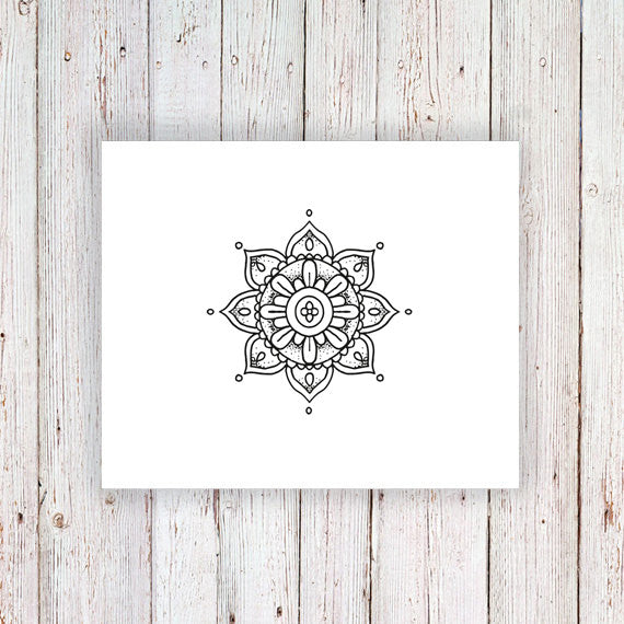 Small mandala temporary tattoo - a temporary tattoo by Tattoorary