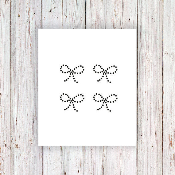 Dotted bow temporary tattoos (4 pieces) - a temporary tattoo by Tattoorary
