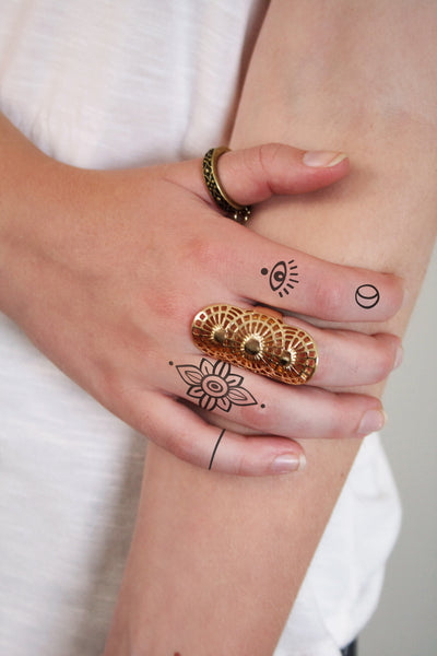 Finger temporary tattoo set - a temporary tattoo by Tattoorary